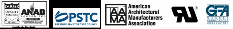 ISO PSTC AAMA GFA foam tape silicone tape